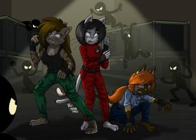 :COM: Gatas in the Warehouse by MableTheRabbid
