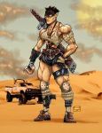 Post Apocalyptic Female Muscle by bigMdesign