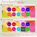 Circle to Square Profile Menu by Madam-Mannal