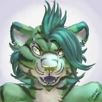 Green Tiger by Elira-Heart