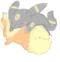 PKMN: Umbreon and Flareon by Glyon