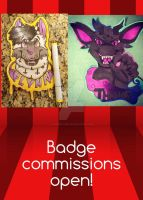 Badge Commissions Open! by graveoftherave