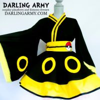Umbreon Pokemon Gijinka Cosplay Kimono Dress by DarlingArmy