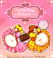 Peach and Daisy's Patisserie by scribblin