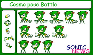 Cosmo pose battle by sonicnews