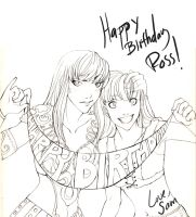 .:Happy Xena-Birthday Ross:. by Samurai-Masami