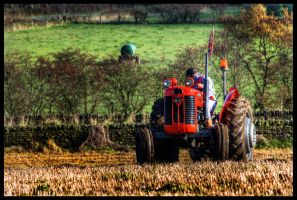 My Little Red Tractor by Megglles