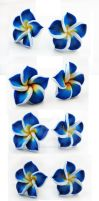 FOR SALE Navy polymer clay flowers posts by Benia1991