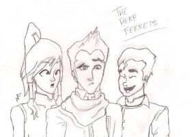 The Derp Ferrets (Uncolored) by Finnisawesome79