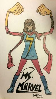 Ms. Marvel by nylandewhouse