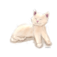 Happy kitty is happy by Cheshiresdesires
