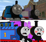 Trainz VS MS Paint - Thomas and Rosie Arguing by Percyfan94