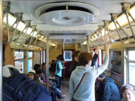 Riding inside R-33 Mainline #9016 II by Brooklyn47