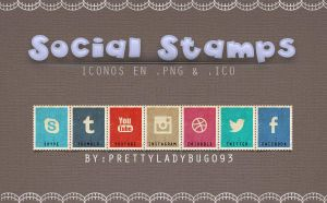 Social Stamps by PrettyLadybug093