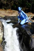 neytiri cosplay waterfall by AmyFantasea