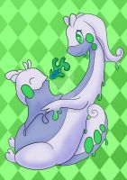A mother's love: Goodra and Goomy by TattyBudderfly
