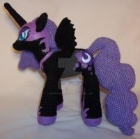 Crochet Nightmare Moon (1) by ImNuckingFuttsToni