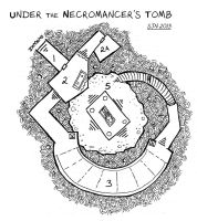 Under the Necromancer's Tomb Map by 3Fangs