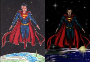 Superman Before and After by alexhdunn