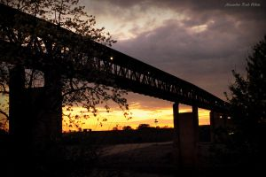 Sunset and a bridge :3 by AlexReedWhite