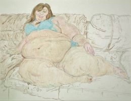 SSBBW Jaye sitting on the sofa attempt 2 color 2 by ENT2PRI9SE