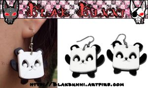 Cute Panda Earrings by BlakBunni