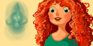 Merida and Wisp by ReSpekt88