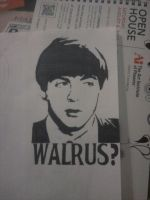 I Am The Walrus Stencil by MissFord66