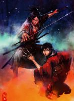 blade of immortal fanart color by hendryzero