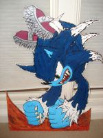 Sonic the Werehog Cut Out by magicwaffles123