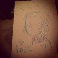 todd webb drawing of me(mr.toast) by Dazeinnight