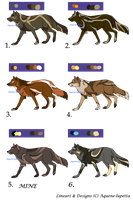 Wolf adoptables-New CLOSED by Aquene-lupetta