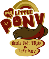 Commission: Needle Light Thread is best pony! by Topas-Art