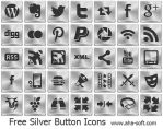 Free Silver Button Icons by aha-soft-icons