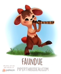 Daily Paint 1551. Faundue by Cryptid-Creations