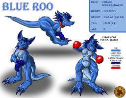 Character Layout - Blue Roo by Lysozyme