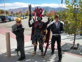Chaos, Squall, and Cloud at Anime Banzai 2012 by Gamoden