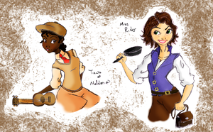 Miss Rider and Tia of Maldonia by theghostlyartist