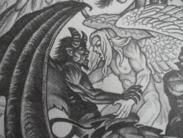 Angel vs. Devil by SirSamael