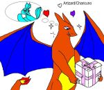 Articuno and Charizard shipping by Dinzydragon