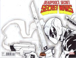 Deadpool sketchcover 2 by adelsocorona
