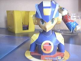 Megaman papercraft by Marlous2604