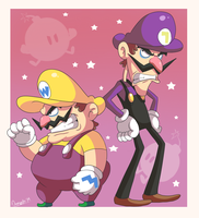 Wario And Waluigi by Domestic-hedgehog