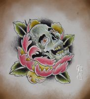 Sull in Rose - Tattoo flash by ClovisRoders