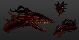 dragon 3D model by Mewtheed