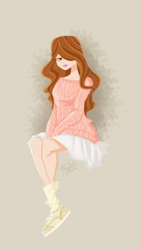 Girl in pink by pingolito