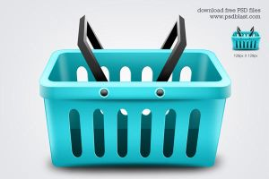 Shopping Basket Icon (PSD) by psdblast