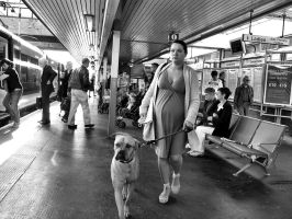 Girl with Dog by daliscar