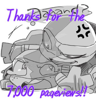Thanks for the 7,000 pageviews!!! by MoniViolet