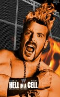WWE Hell in a Cell 2012 Poster by LockdownGFX